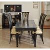 Чёрный стол со стульями