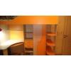 Кровать чердак с рабочим столом Фанки Кидз+ Матрас