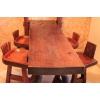 Стол и стулья из африканского палисандра