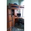 Кровать-чердак с учебным местом и шкафом